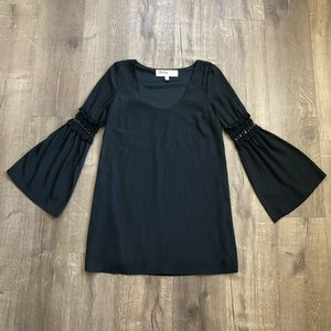 Stone Cold Fox Ninas Black Bell Sleeve Boho Dress